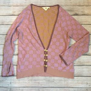 Anthropologie HWR Monogram Cardigan
